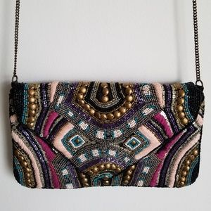 Beaded envelope purse